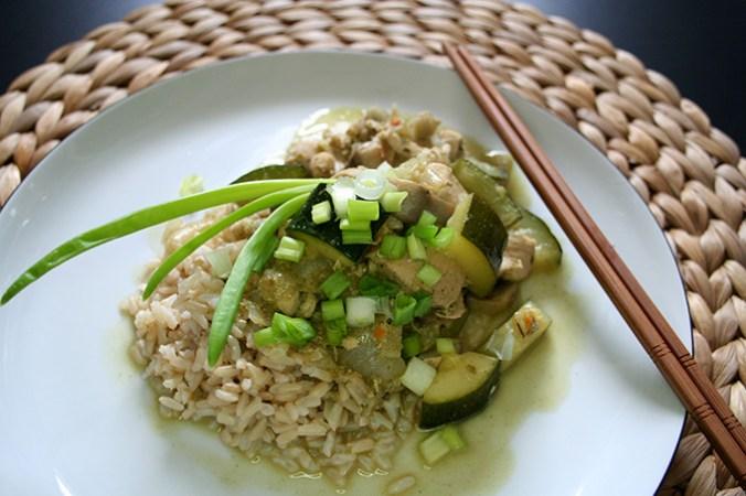 kurczak zielone curry