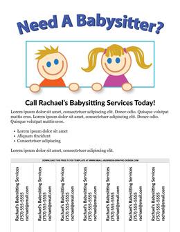 babysitting flyer templates postermywall. babysitting flyer ...