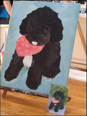 pawtrait with picture
