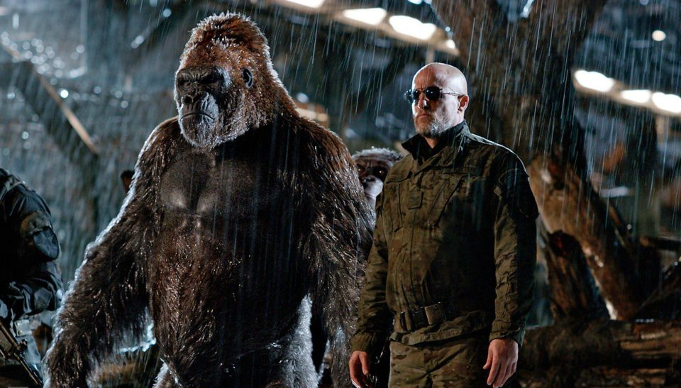 Woody Harrelson as the Colonel in War for the Planet of the Apes