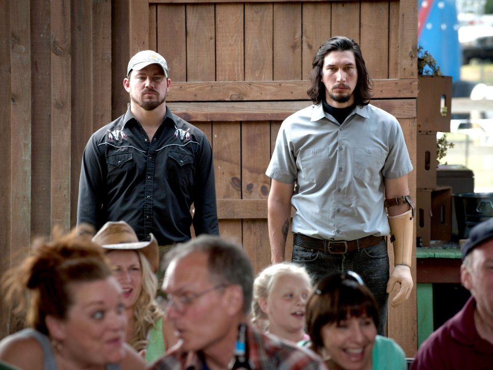 Channing Tatum and Adam Driver in Logan Lucky