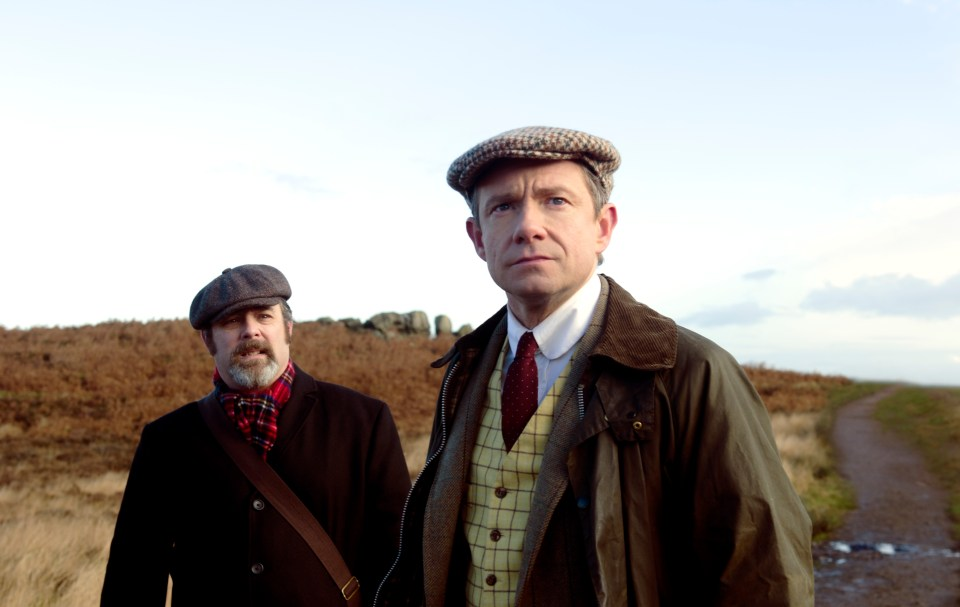 Andy Nyman and Martin Freeman in Ghost Stories
