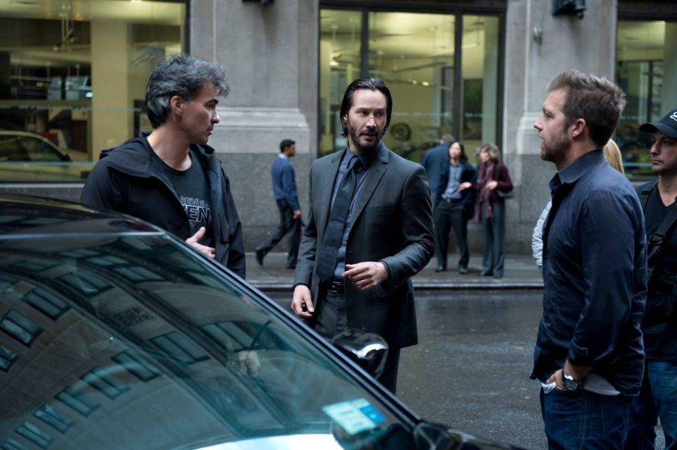Chad Stahelski and David Leitch directing John Wick