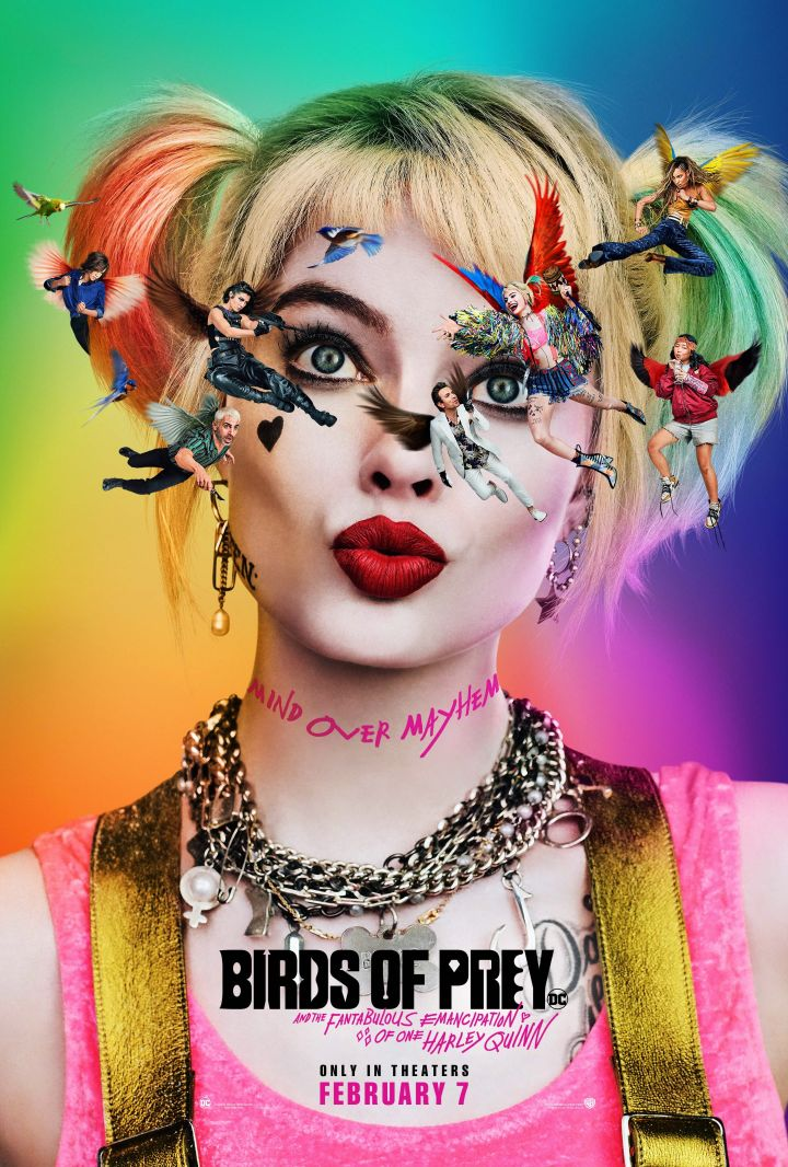 Margot Robbie as Harley Quinn in the poster of Birds of Prey