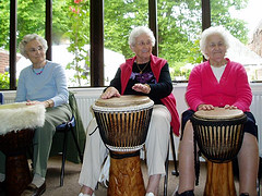 Silver-drummers from Upstream - social enterprise photography stars