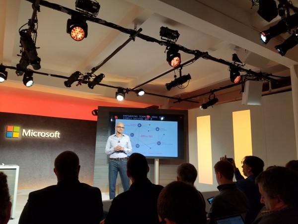 Satya Nadella Launching Microsoft Teams