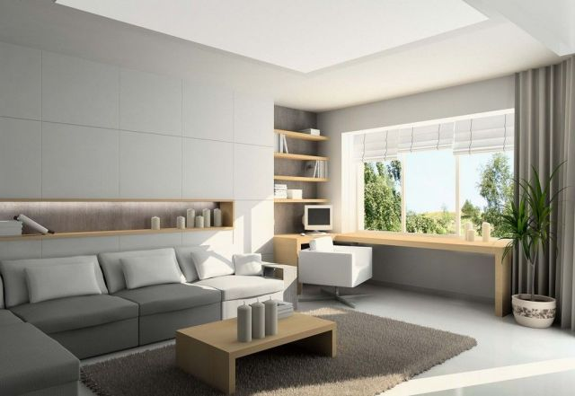 Modern Interior of Small Living Room