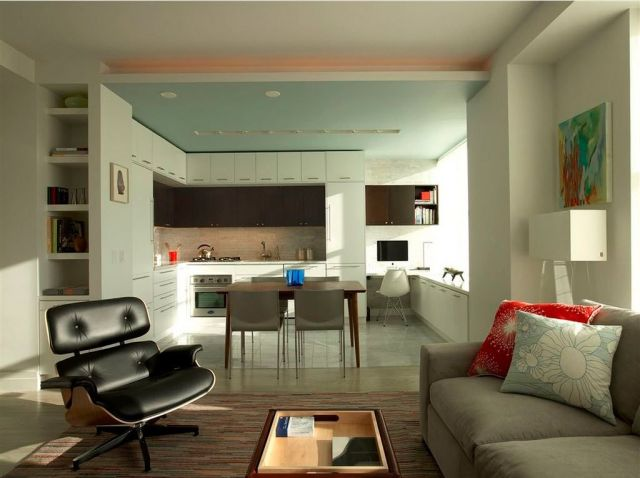 Combined Kitchen and Living Room Interior Design Ideas