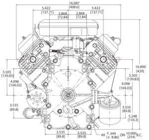 Small Engine Surplus 3057773032 Briggs & Stratton 16 HP