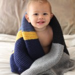 Small Friendly Colorblock Bias Baby Blanket