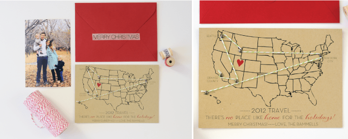 Travel-log Christmas Card by Collected Blog