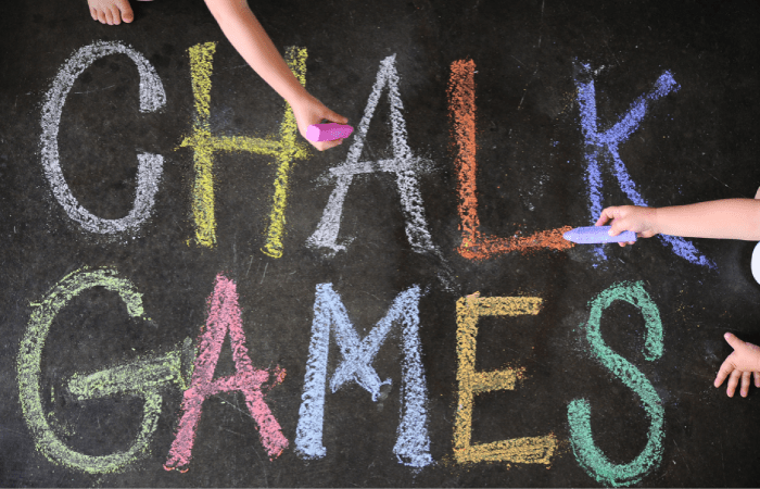 chalk games, kids, summer, diy, easy, free
