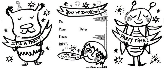 colorable invites