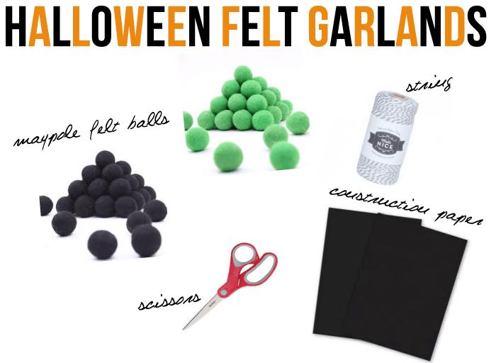 halloween felt garlands