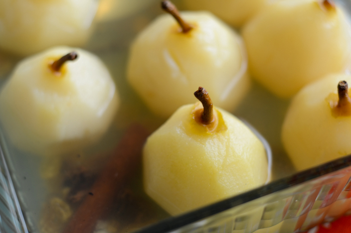 cinnamon poached pears
