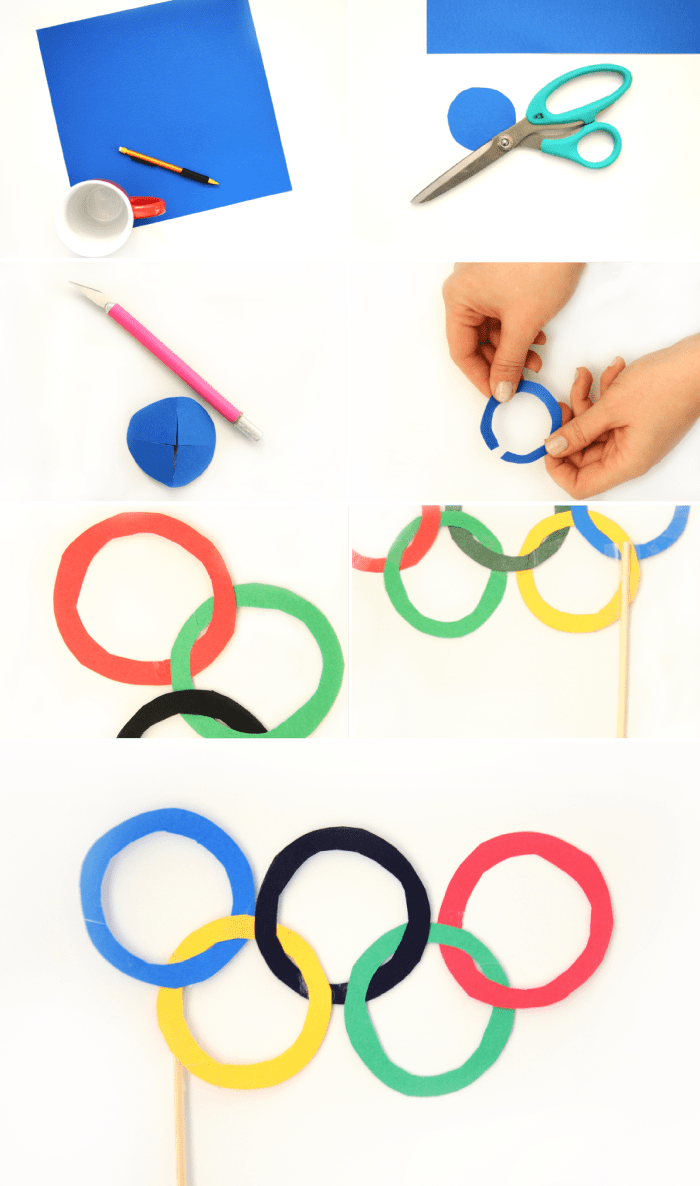Olympic Ring Glasses DIY