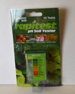 Example of easy to use soil pH test kit for home gardeners.