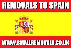 Small removals to Spain
