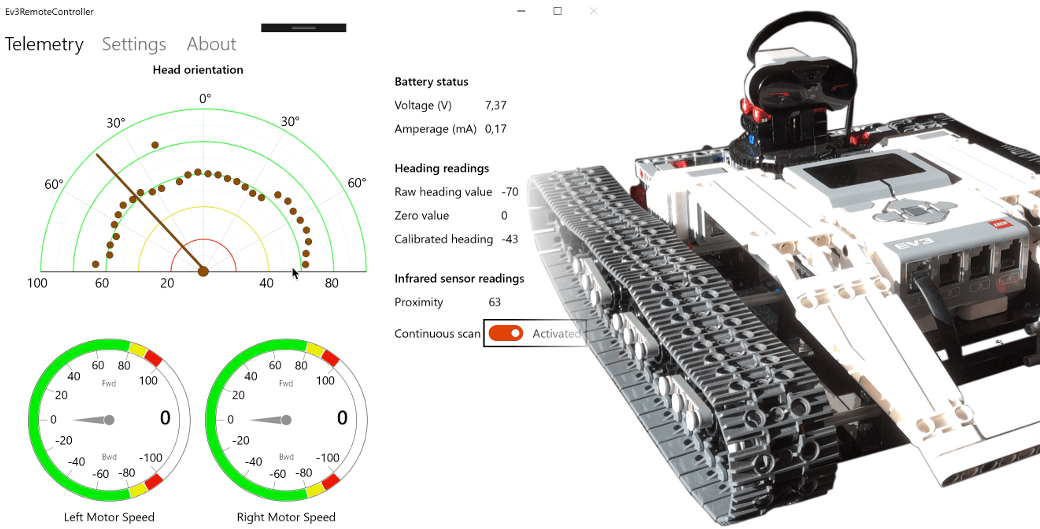 Remote control app for the Ev3 Tracked Explorer - Smallrobots.it