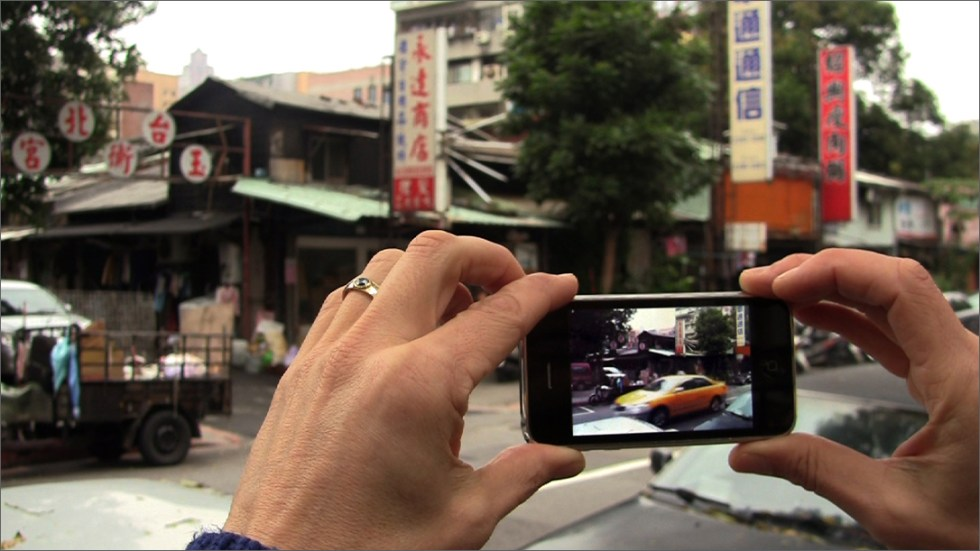 Image: eteam, still from 'Track One' (2011), video, 1:37 min. 'Co- Re-Creating Spaces' will present eteam's related, participatory project with live video, 100 meters behind the future, in its U.S. premier.