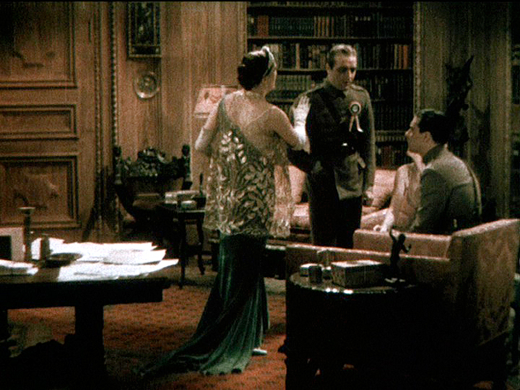 This eight-minute two-strip Mulitcolor sequence remains the only surviving color footage of Jean Harlow.