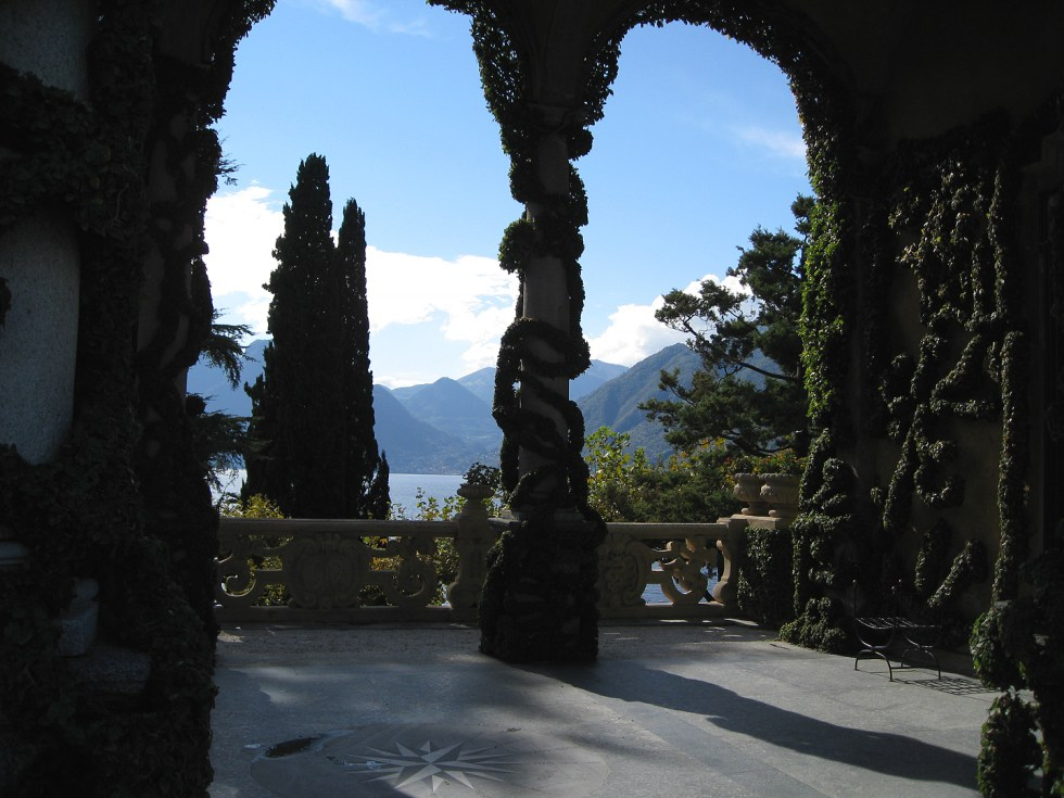 (above) A beautiful view from Villa Balbianello.