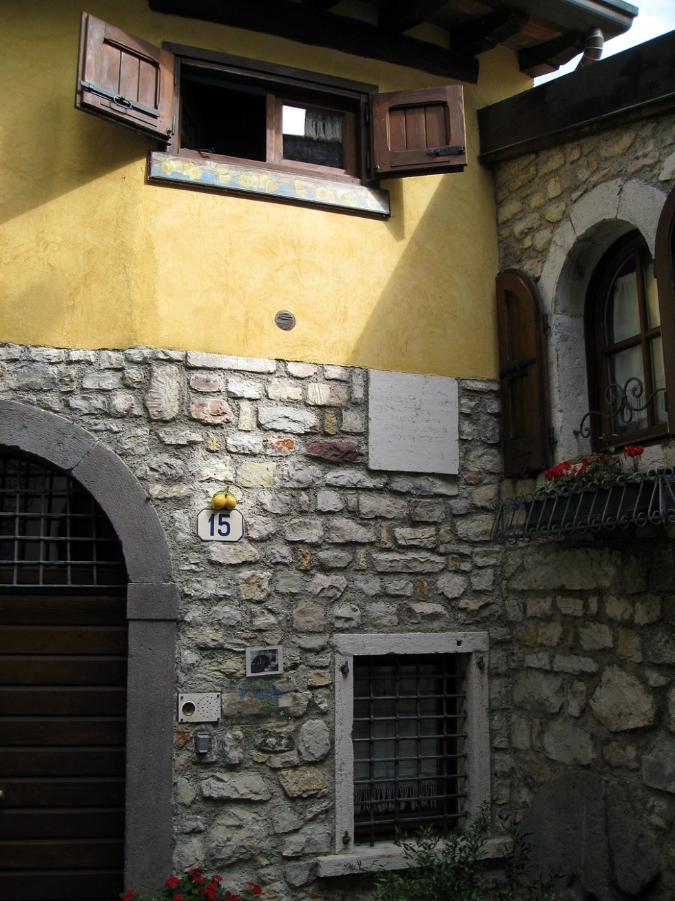 (above) Another street address tucked into a corner in Gargnano, Italy. Even the intercom looks picturesque.