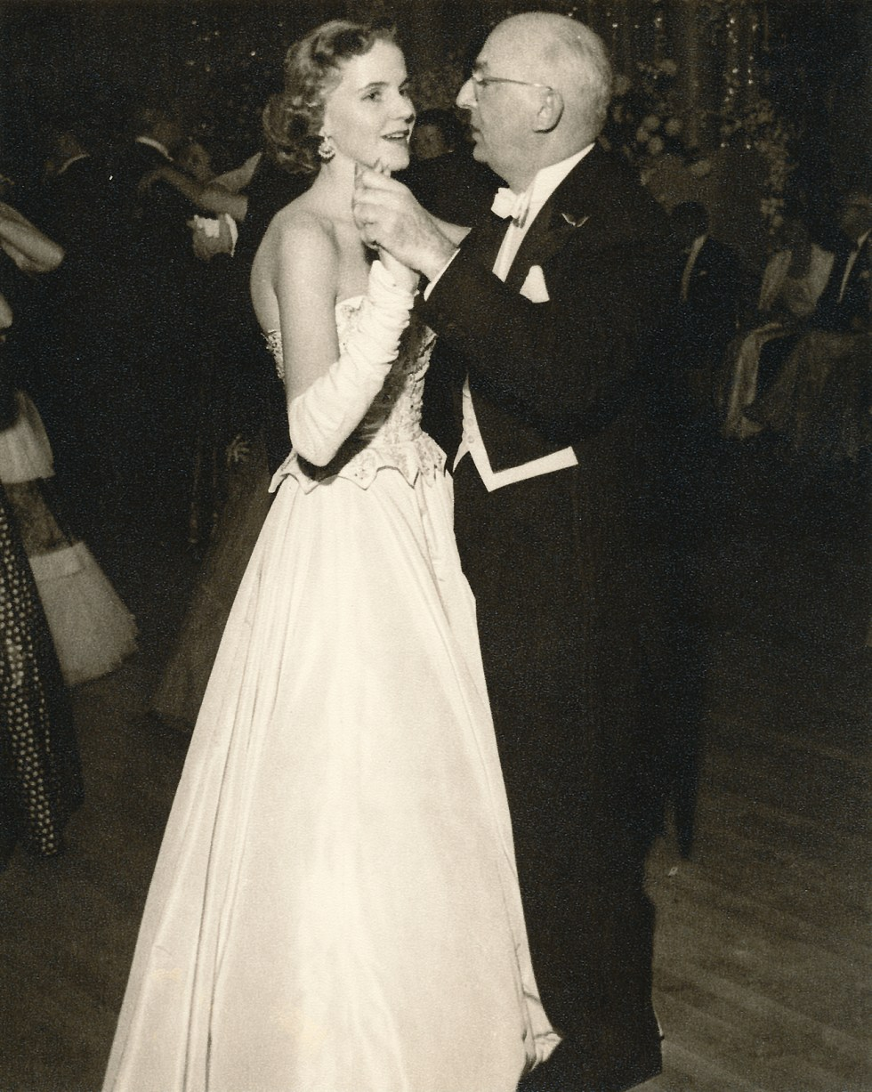 (above) Here my mother is dancing with her father, William J. Brown.