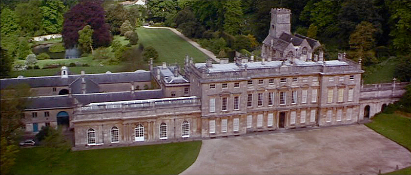 Dyrham Park was used for the driveway and most exteriors.