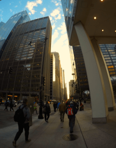 Adams Street in Chicago in the morning -10/20/15
