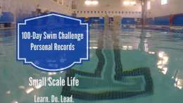100-Day Swim Challenge Personal Records