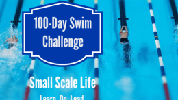 100-Day Swim Challenge - Swimmer and Pool