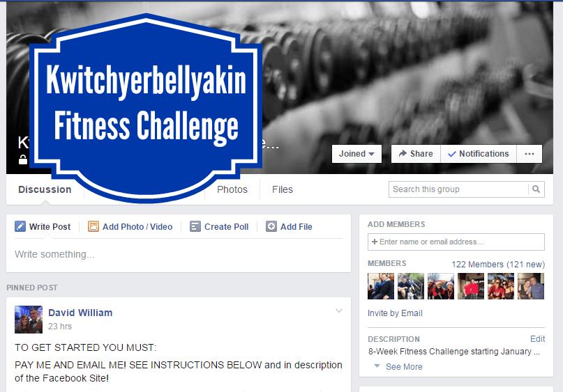 Kwitchyerbellyakin Fitness Challenge