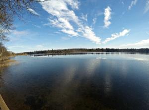 Looking east across Long Lake in Burnett County, Wisconsin - 11/29/15