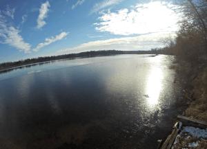 Looking south across Long Lake in Burnett County, Wisconsin - 11/29/15