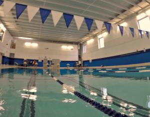 YMCA pool lanes