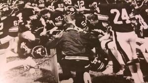 Coach Hanson and the Burnsville Football Team
