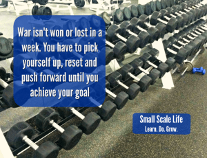 Focus goals reset and push forward with determination
