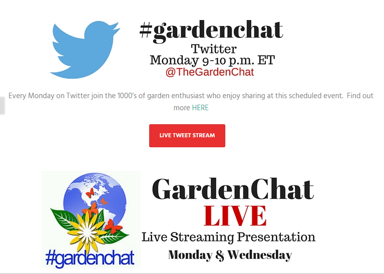 #gardenchat; gardening; gardens; plants; raised beds; do it yourself; chat; Twitter chat