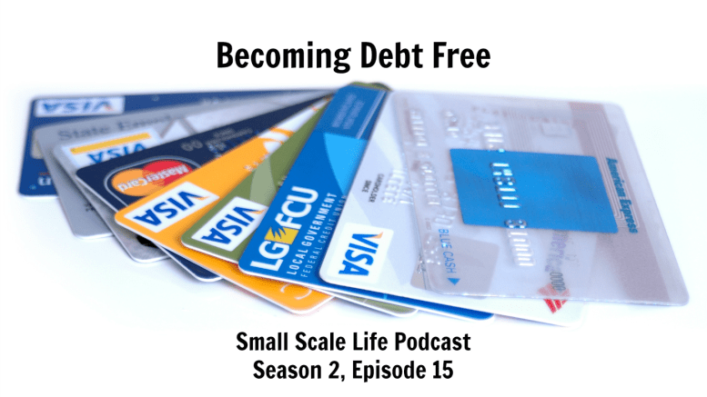 Becoming Debt Free; Debt; Credit Card Debt Small Scale Life; Small Scale Life Podcast; update; goals
