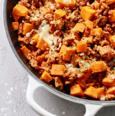 Small Scale Life, Recipes, Main Dishes, Sweet Potato and Turkey Hash with Sauteed Vegetables