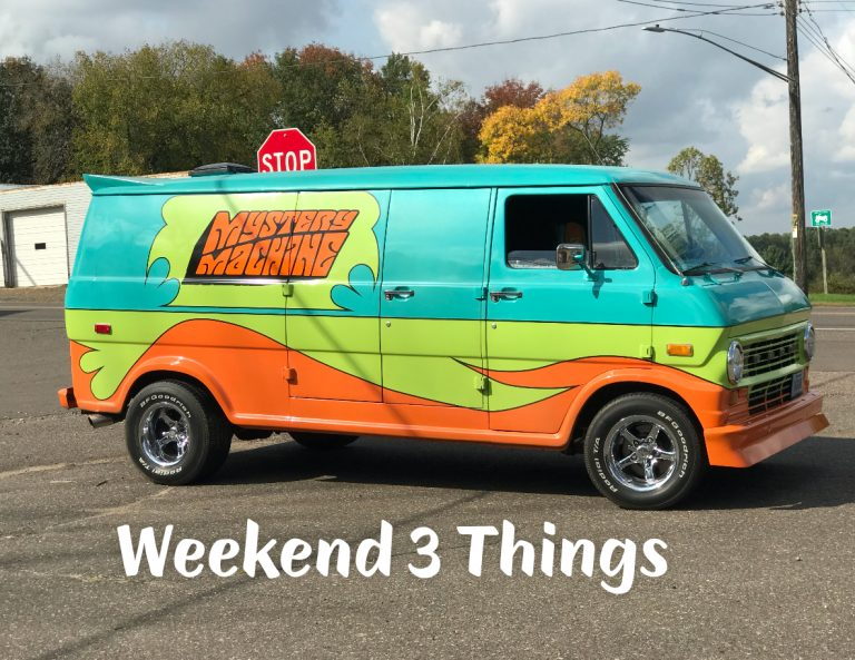Mystery Machine, Weekend 3 Things, My Hell Week, Stress, Travel, Work, Schedules, Deadlines, Dealing with Stress