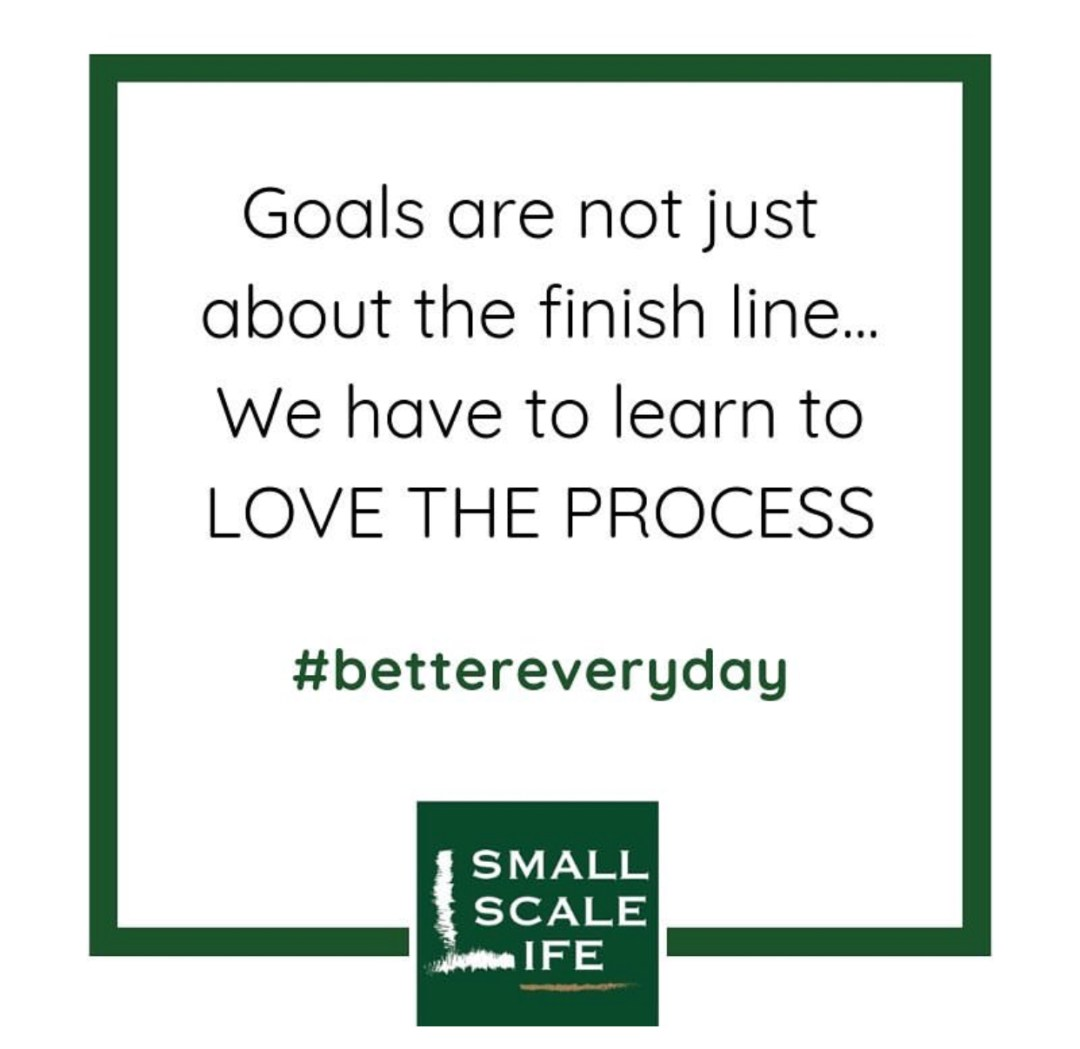 intentional living, simple living, goals, love the process