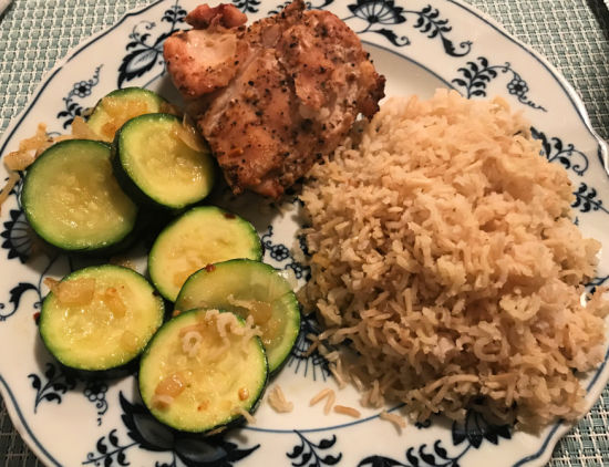 health and fitness, 24 hour plan, renew you, basic nutrition, chicken and rice