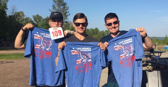 Last Runner Standing Ultramarathon; David, Danny, Ty