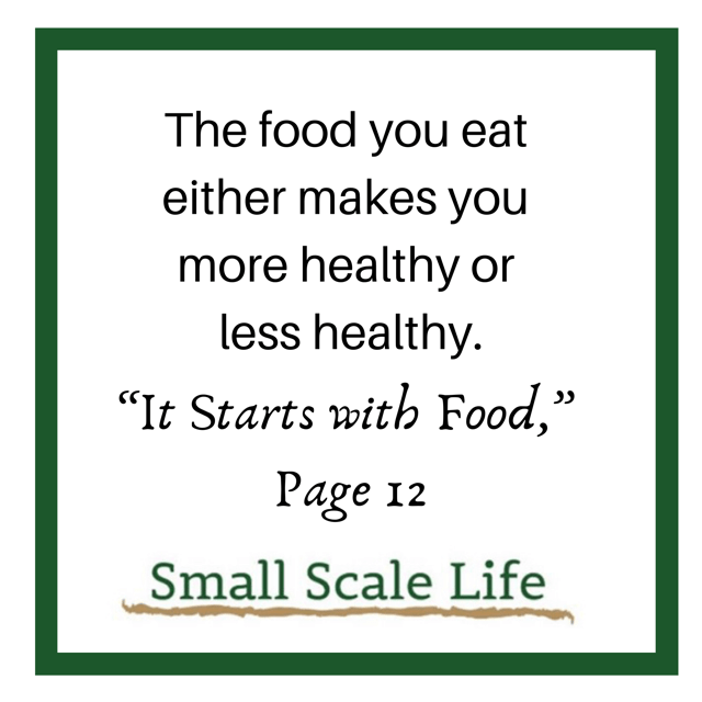 Whole30 Food Quote; It Starts With Food
