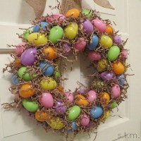 Easter Egg Wreath is Easy and Inexpensive