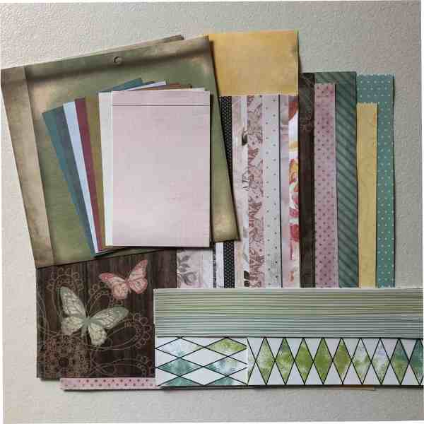 Scrapbook papers included in my June Counterfeit Kit Challenge
