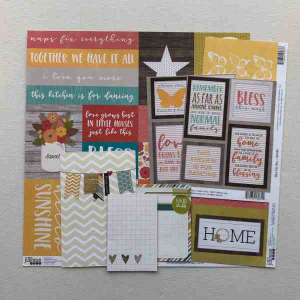Scrapbooking cut-apart sheets and journaling cards