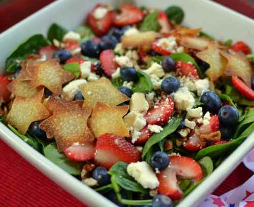 Red White & Blue Patriotic Salad 4th of july recipes
